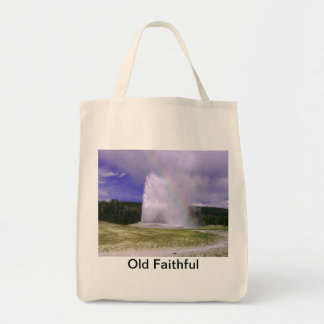 Old Faithful in Yellowstone National Park Tote Bag