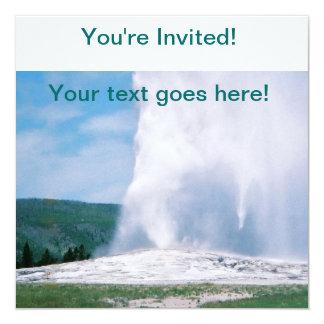 """Old Faithful 5.25"""" Square Invitation Card"""
