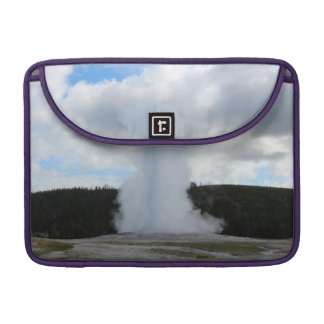 Old Faithful Photo at Yellowstone Sleeve For MacBooks