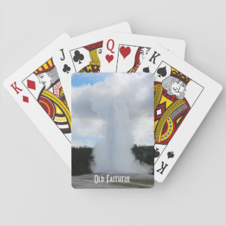 Old Faithful Photo at Yellowstone Playing Cards