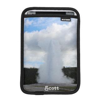 Old Faithful Photo at Yellowstone (Personalize) iPad Mini Sleeves