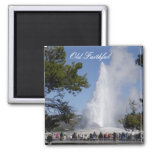 Old Faithful Square Magnet