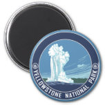 Old Faithful - Yellowstone National Park 2 Inch Round Magnet