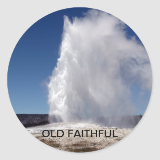 Old Faithful Yellowstone National Park Geyser Stickers