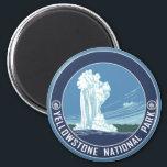 "Old Faithful - Yellowstone National Park Magnet<br><div class=""desc"">Yellowstone National Park</div>"