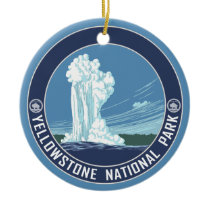 Old Faithful - Yellowstone National Park Souvenir Ceramic Ornament