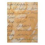 old family recipe postcard