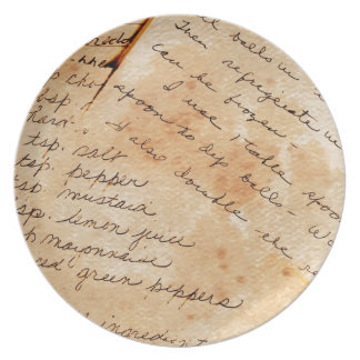Old Family Recipes Dinner Plate