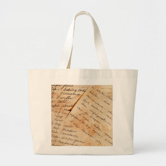 old family recipes large tote bag