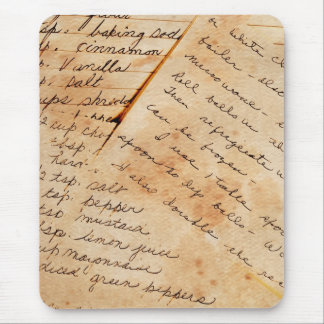old family recipes mouse pad