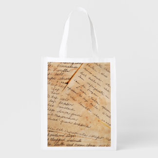 Old Family Recipes Grocery Bag