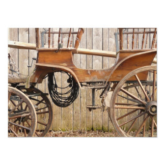 Old Fancy Horse Coach Buggy Card