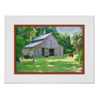 Old Farm Barn Print or Poster