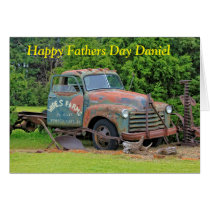 Old Farm Equipment Fathers Day Greeting Card