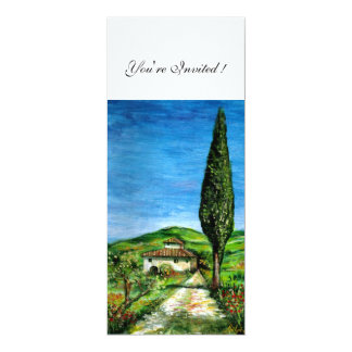 OLD FARM HOUSE IN CHIANTI, blue green red white Card