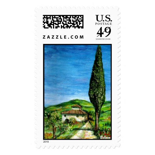 Old farm house in Chianti Stamp
