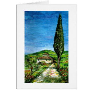 Old farm house in Tuscany Card