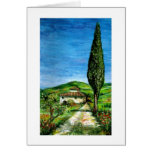 Old farm house in Tuscany Greeting Card