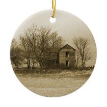 old farm house ornament