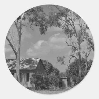 OLD FARM HOUSE QUEENSLAND AUSTRALIA CLASSIC ROUND STICKER