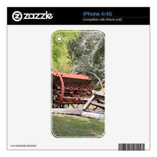 Old farm machinery, Australia iPhone 4 Decal