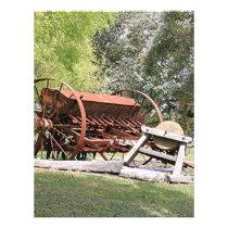 Old farm machinery, Australia Letterhead