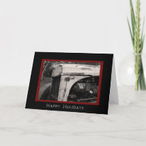 Old Farm Tractor Country Happy Holidays Card