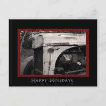 Old Farm Tractor Country Happy Holidays Holiday Postcard