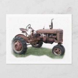 Old Farm Tractor Postcard
