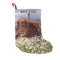 Old Farm Tractor Rustic Christmas Stocking