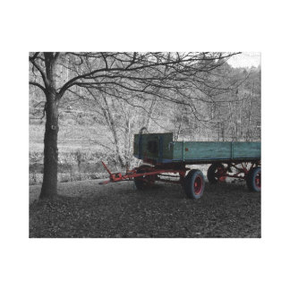 Old Farm Wagon Canvas Print