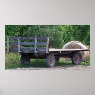 Old Farm Wagon Photo Poster