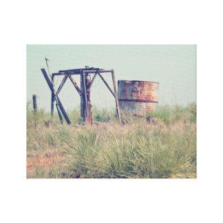 "Old Farm Water Tank 14"" x 11"", 1.5"", Single Canvas Print"