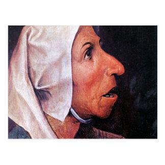 Old Farmer by Pieter Bruegel Postcard