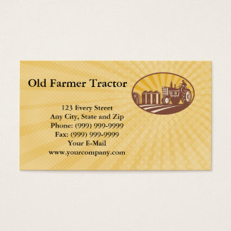 Old Farmer Tractor Business Card