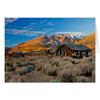Old Farmhouse Along Hwy 395 In June Lake Greeting Card