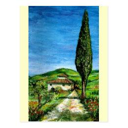 Old Farmhouse in Chianti Postcard
