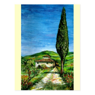 Old Farmhouse in Chianti Post Card