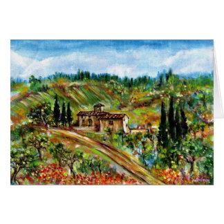 OLD FARMHOUSE IN CHIANTI -TUSCANY CARD