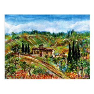 OLD FARMHOUSE IN CHIANTI -TUSCANY POSTCARDS