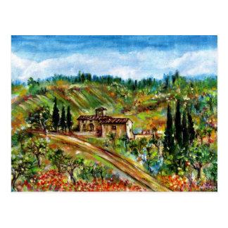 OLD FARMHOUSE IN CHIANTI -TUSCANY POSTCARD