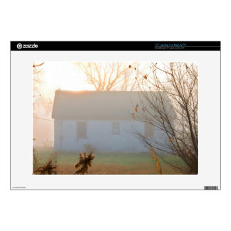 "Old Farmhouse in Fog at Sunrise Decal For 15"" Laptop"