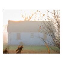 Old Farmhouse in Fog at Sunrise Letterhead
