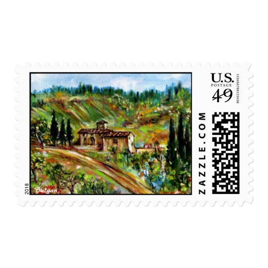 OLD FARMHOUSE IN TUSCANY POSTAGE