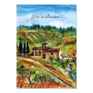 OLD FARMHOUSE  IN TUSCANY,yellow green white Card