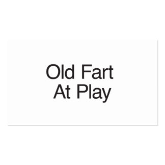 Old Fart At Play Double-Sided Standard Business Cards (Pack Of 100)