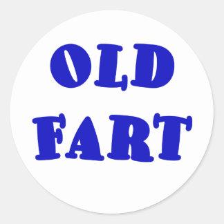 Old Fart Classic Round Sticker