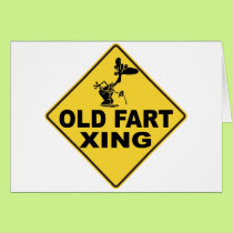 Old Fart Crossing Card