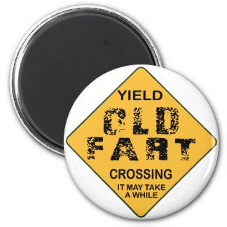 Old Fart Crossing Fridge Magnets