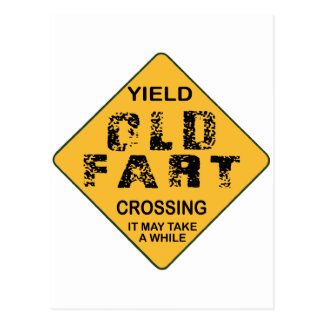 Old Fart Crossing Post Cards